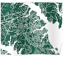 Annapolis Map - Dark Green Poster
