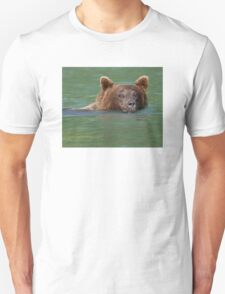 Grizzly Bear Swimming Unisex T-Shirt