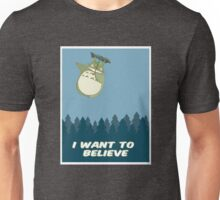 """I Want to Believe"" Totoro  Unisex T-Shirt"