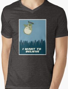 """I Want to Believe"" Totoro  Mens V-Neck T-Shirt"
