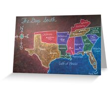 The Deep South Greeting Card