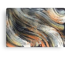 Whimsical Swirls Orange White Blue Canvas Print