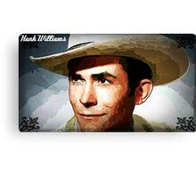 Painting Of Hank Williams Canvas Print