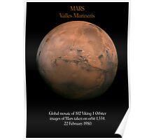 Mars Valles Marineris - Viking / Nasa Images Poster