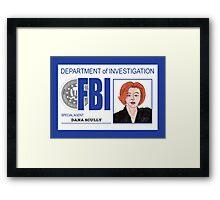 Agent Dana Scully Framed Print