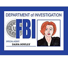 Agent Dana Scully Photographic Print