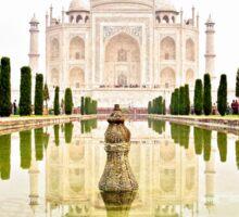 The Taj Mahal at Sunrise in November  Sticker