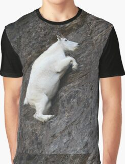 Mountain Goat on the Edge Graphic T-Shirt
