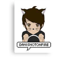 Danisnotonfire Kitten Canvas Print