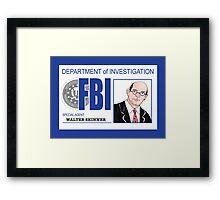 Agent Walter Skinner Framed Print