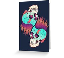 Skull Redux Greeting Card