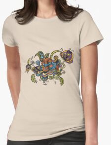 flower doodle Womens Fitted T-Shirt