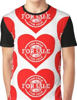 Heart for Sale White version Graphic T-Shirt