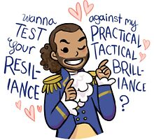 Hamilton - Lafayette - Practical Tactical Brilliance - Black Case/Sticker by ilirida