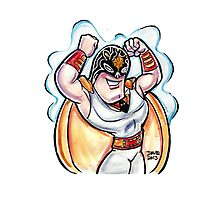 Lucha Space Ghost Photographic Print