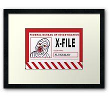 X-File: Flukeman Framed Print