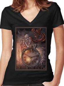 Clock Women's Fitted V-Neck T-Shirt