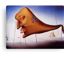 Sleep by Salvador Dali - Pillow and Phone Cases Canvas Print
