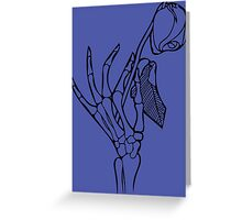 The Touch of Death Greeting Card