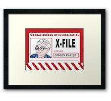 X-File: Gibson Praise Framed Print