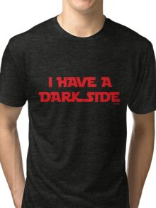 Dark side (red) Tri-blend T-Shirt