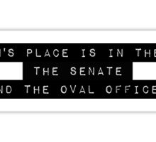 A Woman's Place Sticker