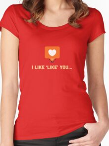 Character Building - 'Like' Like Women's Fitted Scoop T-Shirt