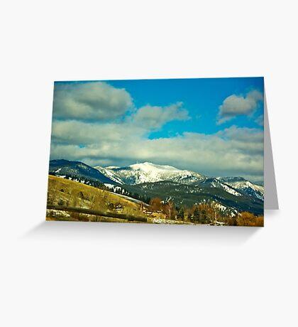 Snow Bowl/TV Mountain Greeting Card