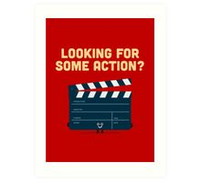 Character Building - Clapperboard Art Print
