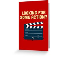 Character Building - Clapperboard Greeting Card