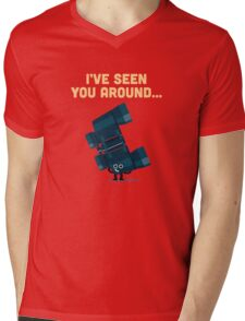 Character Building - Binoculars Mens V-Neck T-Shirt