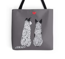 "Australian Cattle Dog, Blue Heeler, ""Puppy Love"" Tote Bag"