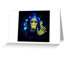 Monkey in the light Greeting Card