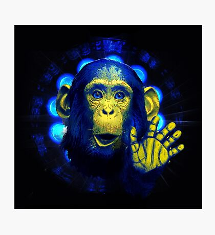 Monkey in the light Photographic Print