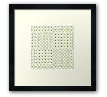 Fish Scales (Navy & Gold) Framed Print