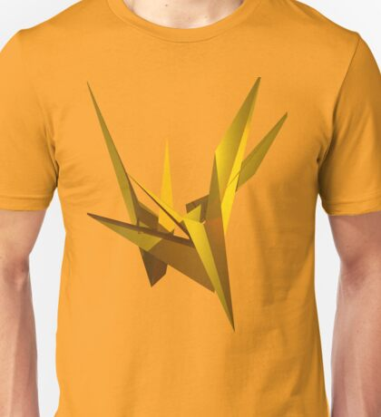 Yellow Fracture Unisex T-Shirt
