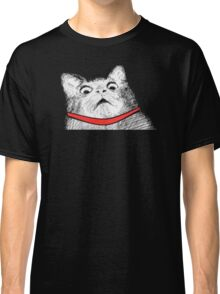 Surprised Cat Rage Face Classic T-Shirt
