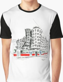 Urban sketch of Prague Graphic T-Shirt