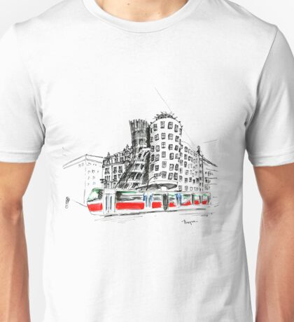 Urban sketch of Prague Unisex T-Shirt