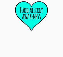 Food Allergy Awareness Teal Heart Unisex T-Shirt