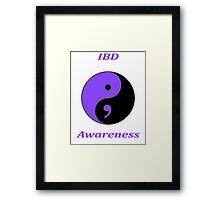 IBD Awareness Semicolon Framed Print