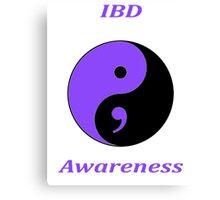 IBD Awareness Semicolon Canvas Print