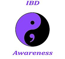 IBD Awareness Semicolon Photographic Print