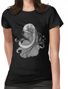 Glamour Girl pencil drawing Womens Fitted T-Shirt