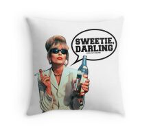 "Absolutely Fabulous - ""Sweetie, Darling"" Patsy. Throw Pillow"