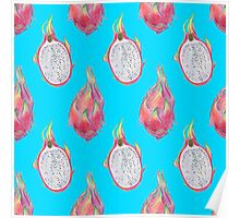 Dragon Fruit pattern Poster