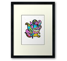Fun and Funky, Fanciful Feather Framed Print