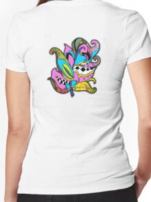 Fun and Funky, Fanciful Feather Women's Fitted V-Neck T-Shirt
