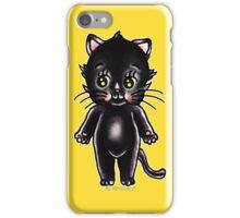 Black Cat Kewpie iPhone Case/Skin