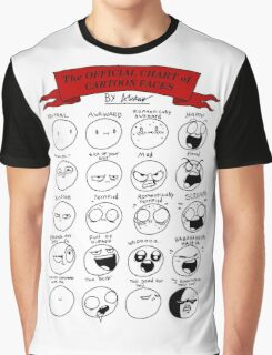 The OFFICIAL CHART of CARTOON FACES Graphic T-Shirt